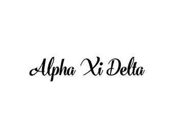 Alpha Xi Delta decal vinyl window bumper Sorority greek letters laptop sticker available in 10 different sizes and 30 different colors