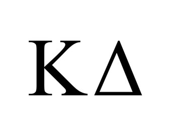 kappa delta decal vinyl window bumper sorority greek letters laptop sticker available in 10 different sizes and 30 different colors