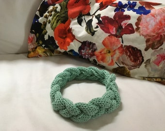 Cotton Headband // Mint Blue