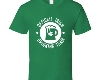 Irish Drinking Team funny St Patricks day tshirt,st patricks day tops,irish tshirt,st patricks day clothing,drinking tshirts,irish and proud