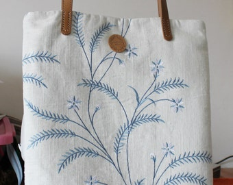 Handmade Shipping Bag Ramie Cotton Shoulder Bag Large Bag 1608