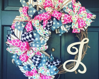 Personalized Mongram wreath