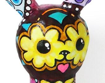 "Bunny ""Mexy"" Art Doll Paper Mache"