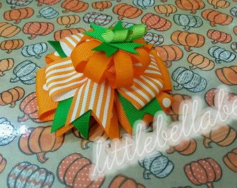 Halloween / Thanksgiving  The Great Pumpkin Hair Bow