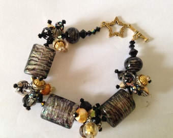 One Enchanted Evening-Handmade Lampwork Bracelet