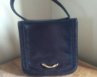 Sweet vintage navy clutch bag