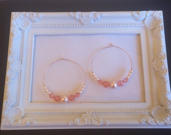 Rose gold filled hoop earrings