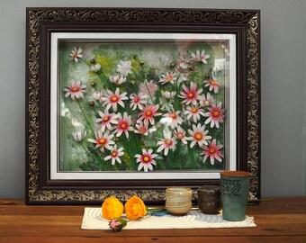 3D Flower Clay Paintings - Daisy