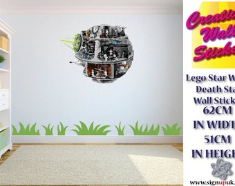 Lego Star Wars Death Star Wall Sticker Children's Bedroom Easy To Apply