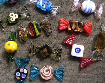 Art Glass Candy pieces