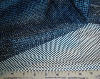 """Mesh Fabric - 50"""" 100% Polyester - Dark Blue (Navy) - Soft and Strong - USA Made"""