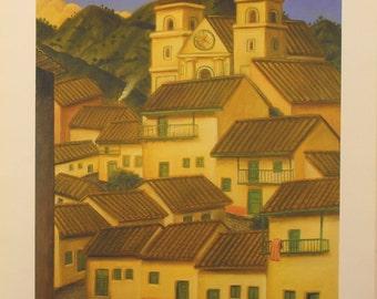 "Fernando Botero  - ""La Ciudad"" - Offset Lithograph, 1995"