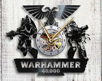 Warhammer 40k Vinyl LP Record Wall Clock