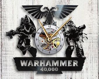 Warhammer 40k Vinyl LP Record Wall Clock