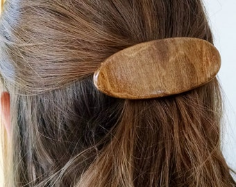 Wood Barrette, Wooden Barrette, Wood Hair Clip, Wooden Hair Clip, b36