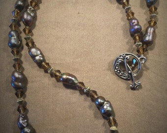 Freshwater Pearl and Glass Necklace