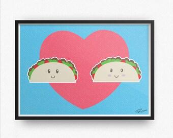 Taco Art Print