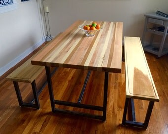 Butcher Block Table and Chairs