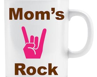 Mom's Rock Coffee Mug