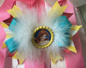 5 inch Princess Belle bow