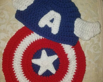 Captain America newborn Photo prop
