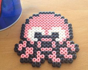 Geek pixel art Octopus Mario coasters