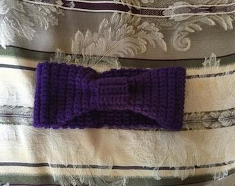 Crochet bow head band