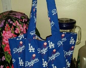 LA Dodgers Baseball Shopping Tote