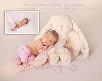 Prop Digital Newborn Photography studio ( Soft Cuddly Rabbit With Wool ) high resolution digital file