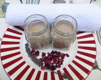 Gentle herbal and clay facial cleansing duo