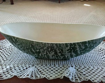 Green Boat Centerpiece vase