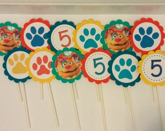 Mutt & Stuff Puppy Dog Themed Cupcake Toppers