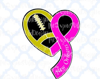Breast Cancer Football New Orleans Saints SVG,EPS,PNG,Studio