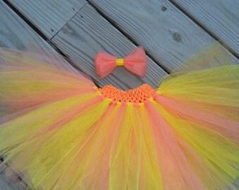Yellow and Peach Baby/Toddler Tutu
