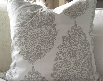 Pillow Cover, Premier Prints, Yorkshire Twill, French Gray