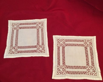 Antique Square Cotton Doilies