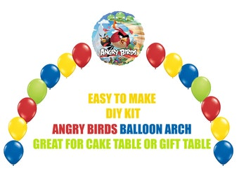 Angry Birds Game Birthday Balloons Angry Birds Movie Arch Balloon