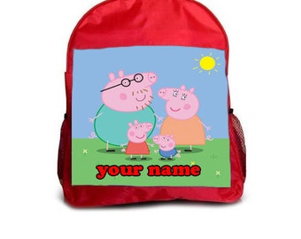 Pepa Pig Backpack/School/Rucksack - Can be Personalized