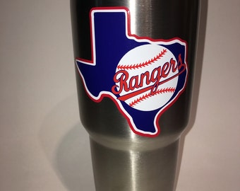 Texas Rangers baseball decal