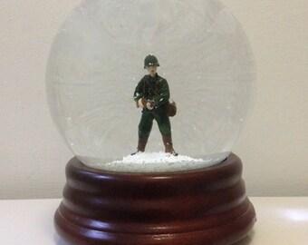 Soldier Snow Globe