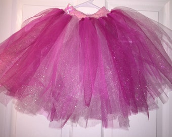 Pink Shimmer Tutu with Sequin Band