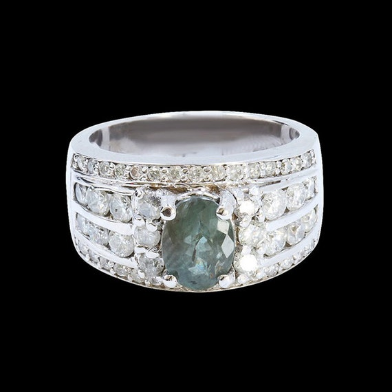1 60ct alexandrite 18k white gold ring