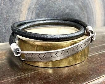 Herring Bone Wrap Bracelet