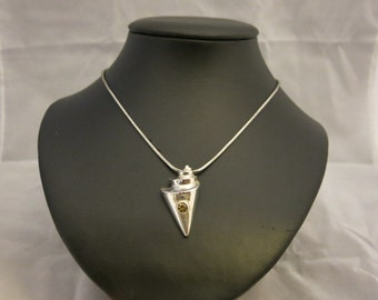 Silver Conch Shell Necklace