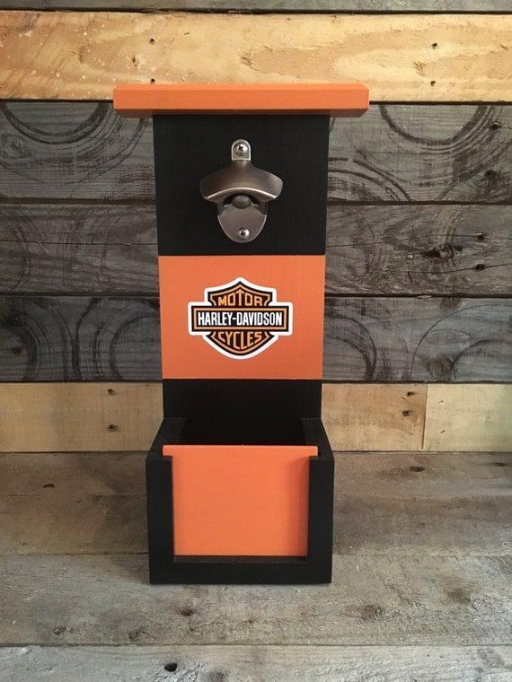 Harley Davidson Bottle Opener With Cap Catch