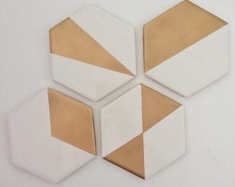 Geometric Hexagon Coasters | Hostess Gift | Gift for Her