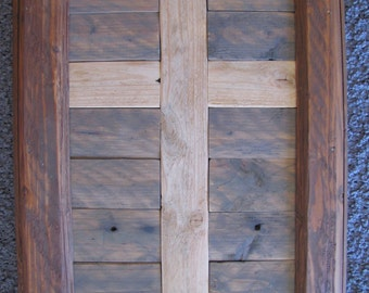 Rustic Cross with Hooks