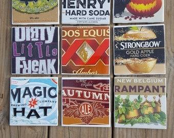 Ceramic Tile Craft Beer Box Coasters