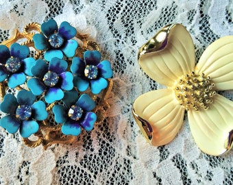Two Very Collectible Designer Brooches/Pins