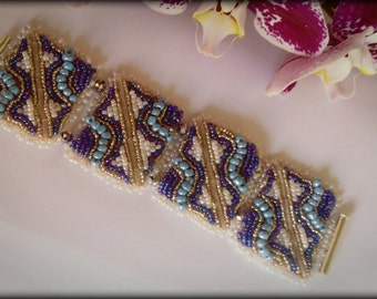 Handcrafted bead embroidery bracelet